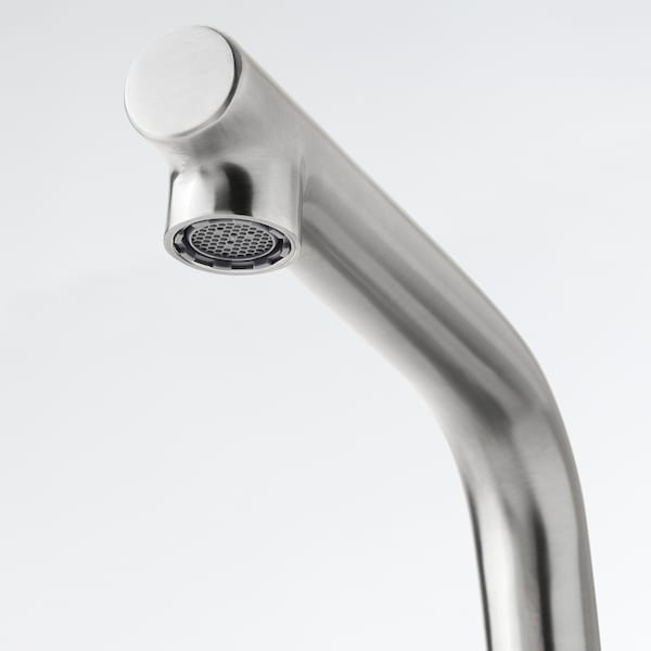 LUNDSKÄR Wash-basin mixer tap with strainer, stainless steel colour