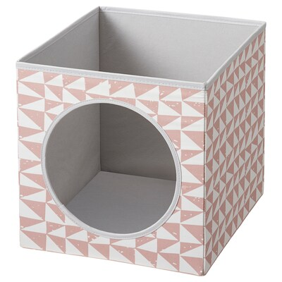 LURVIG Cat house, pink, 33x38x33 cm