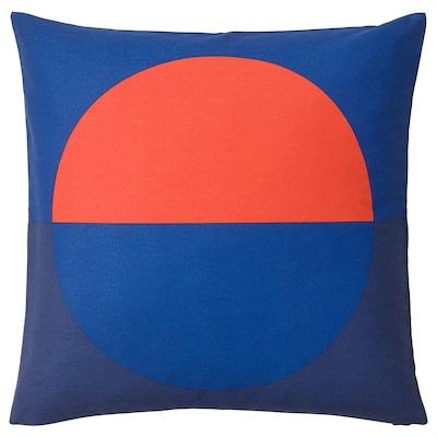 MAJALOTTA cushion cover blue/bright orange 50 cm 50 cm