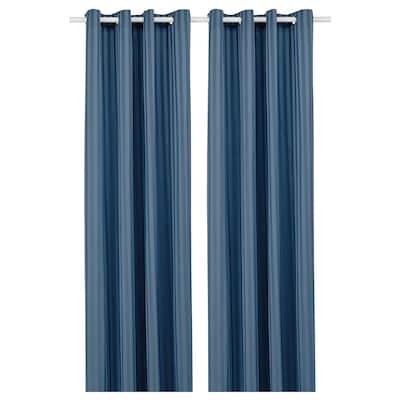 MAJRID Room darkening curtains, 1 pair, blue, 145x300 cm