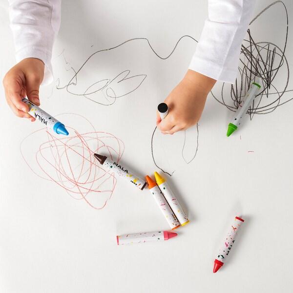 MÅLA Wax crayon, mixed colours