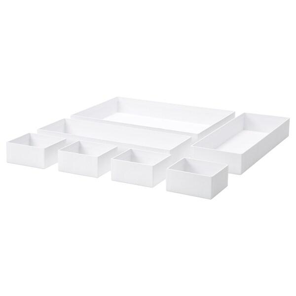 MALAREN Box, set of 7, white
