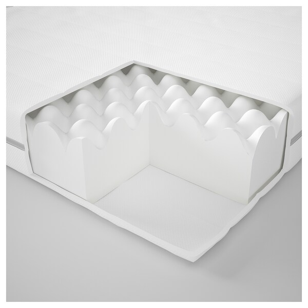 MALFORS Foam mattress, medium firm/white, 140x200 cm