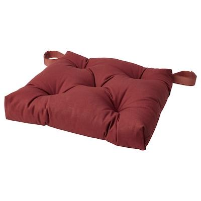 MALINDA Chair cushion, dark brown-red, 40/35x38x7 cm