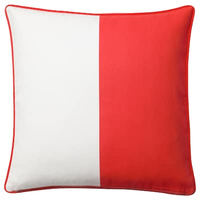 MALINMARIA cushion cover red/white 50 cm 50 cm