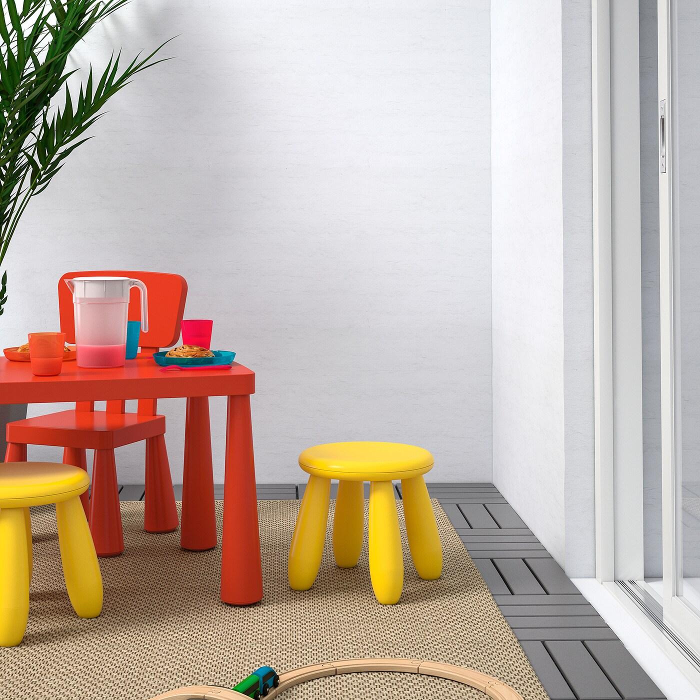 MAMMUT Children's stool, in/outdoor/yellow