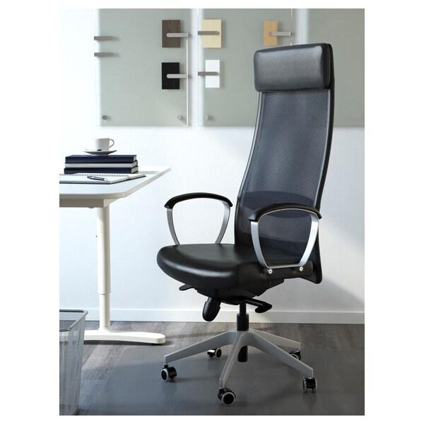 Leren Ikea Bureaustoel.Markus Office Chair Black Glose Robust Black Ikea