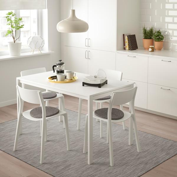 Ikea Eettafel 4 Stoelen.Melltorp Janinge Table And 4 Chairs White White Ikea