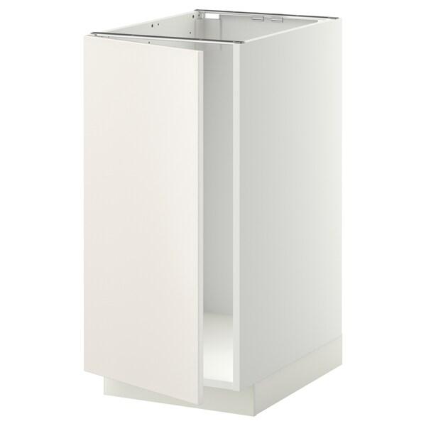 METOD Base cab f sink/waste sorting, white/Veddinge white, 40x60 cm
