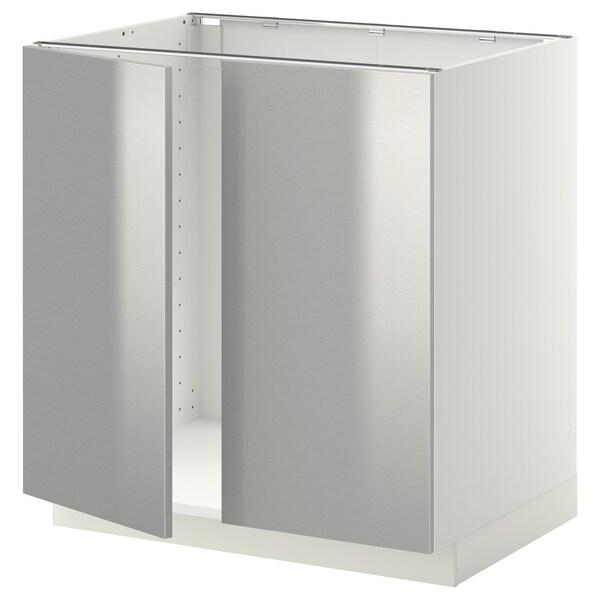 Metod Base Cabinet For Sink 2 Doors