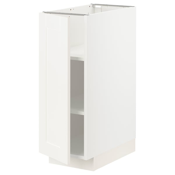 METOD Base cabinet with shelves, white/Sävedal white, 30x60 cm