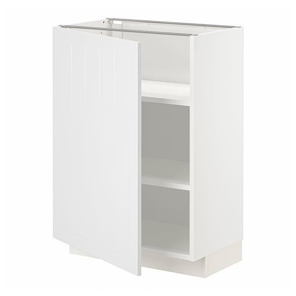 METOD Base cabinet with shelves, white/Stensund white, 60x37 cm