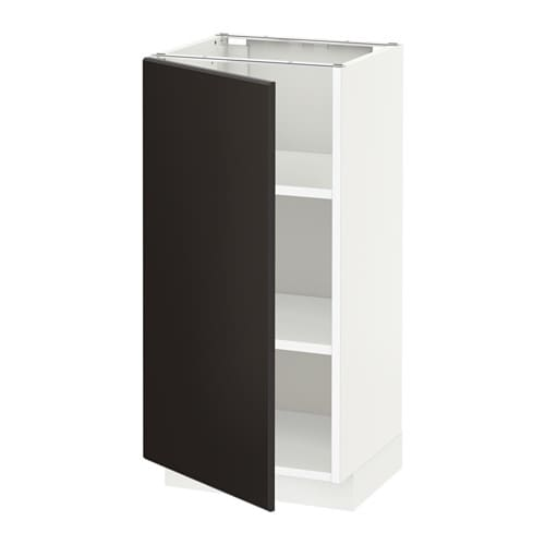 Metod Base Cabinet With Shelves White Kungsbacka Anthracite