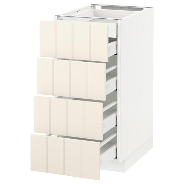 METOD Base cb 4 frnts/2 low/3 md drwrs, white/Hittarp off-white, 40x60 cm