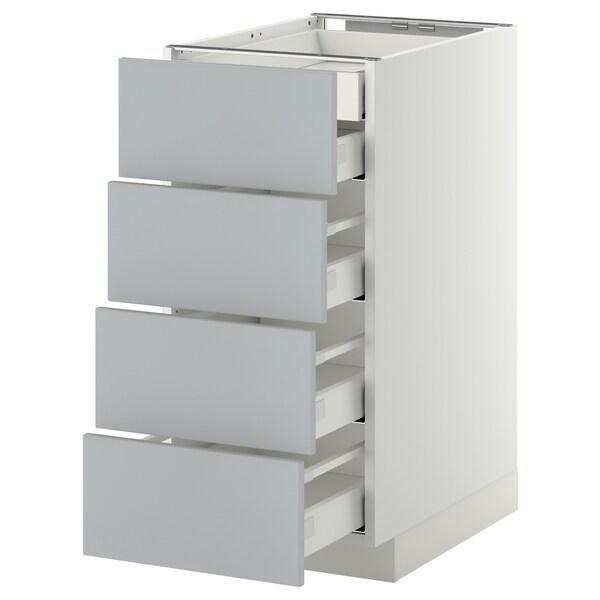 METOD Base cb 4 frnts/2 low/3 md drwrs, white/Veddinge grey, 40x60 cm