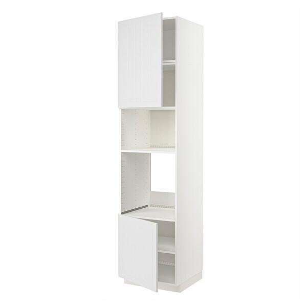 METOD Hi cb f oven/micro w 2 drs/shelves, white/Stensund white, 60x60x240 cm