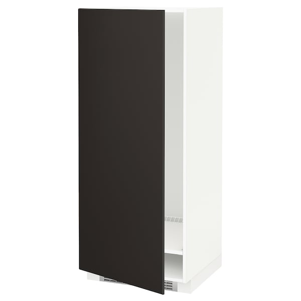 METOD High cabinet for fridge/freezer, white/Kungsbacka anthracite, 60x60x140 cm