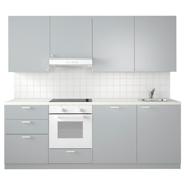 METOD Kitchen - white Maximera, Veddinge grey - IKEA