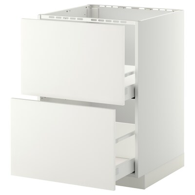 METOD / MAXIMERA base cab f sink+2 fronts/2 drawers white/Häggeby white 60.0 cm 61.6 cm 88.0 cm 60.0 cm 80.0 cm