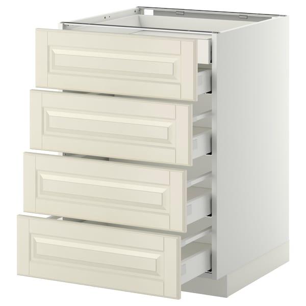 METOD / MAXIMERA Base cb 4 frnts/2 low/3 md drwrs, white/Bodbyn off-white, 60x60 cm