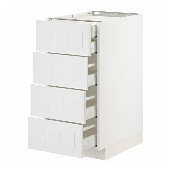 METOD / MAXIMERA Base cb 4 frnts/2 low/3 md drwrs, white/Stensund white, 40x60 cm