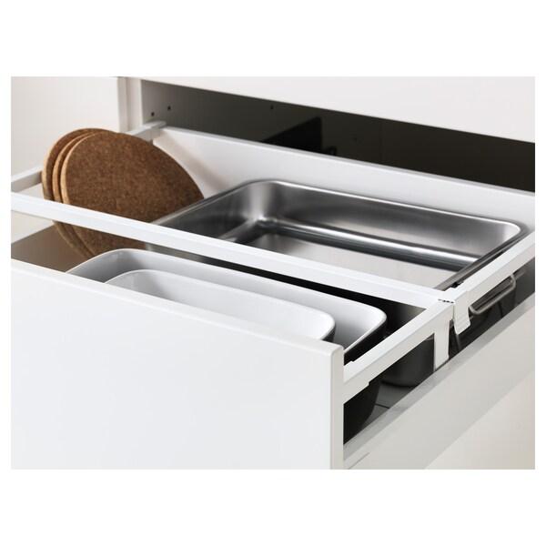 METOD / MAXIMERA High cab f oven/micro w dr/2 drwrs, white/Bodbyn grey, 60x60x220 cm
