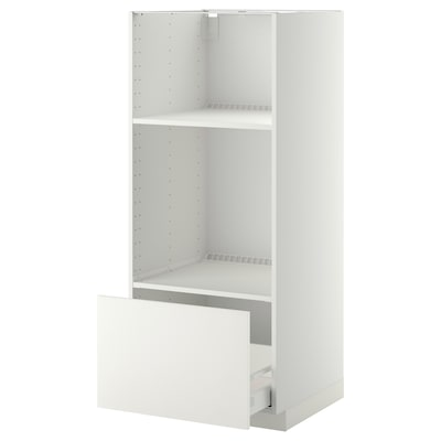 METOD / MAXIMERA high cab for oven/micro w drawer white/Häggeby white 60.0 cm 61.6 cm 148.0 cm 60.0 cm 140.0 cm