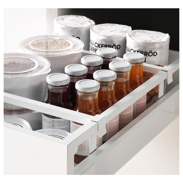 METOD / MAXIMERA High cabinet with drawers, white/Veddinge grey, 40x60x200 cm