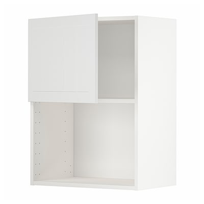METOD Wall cabinet for microwave oven, white/Stensund white, 60x80 cm