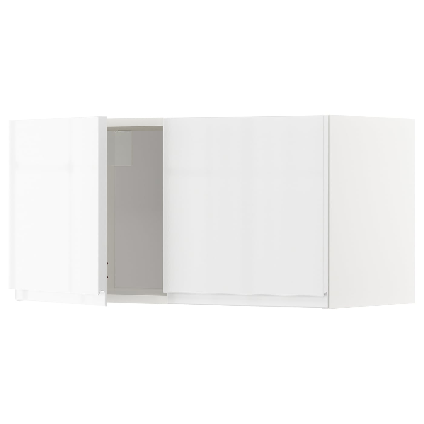 METOD Wall cabinet with 2 doors - white, Voxtorp high ...