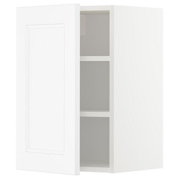 METOD Wall cabinet with shelves, white/Axstad matt white, 40x60 cm