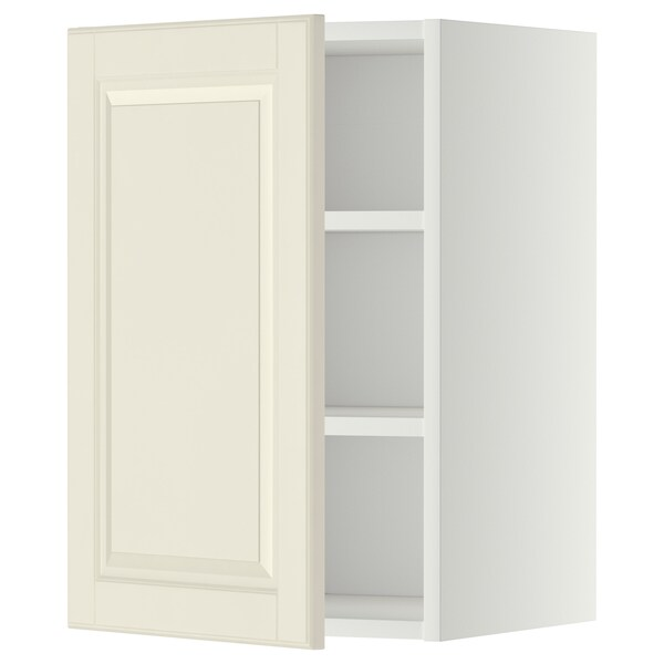 METOD Wall cabinet with shelves, white/Bodbyn off-white, 40x60 cm