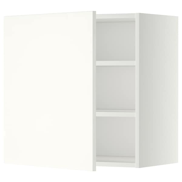 METOD Wall cabinet with shelves, white/Häggeby white, 60x60 cm