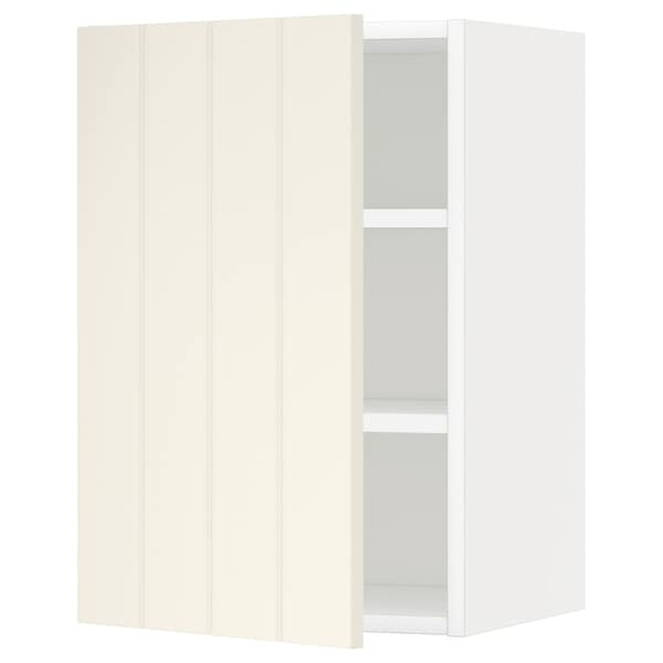 METOD Wall cabinet with shelves, white/Hittarp off-white, 40x60 cm