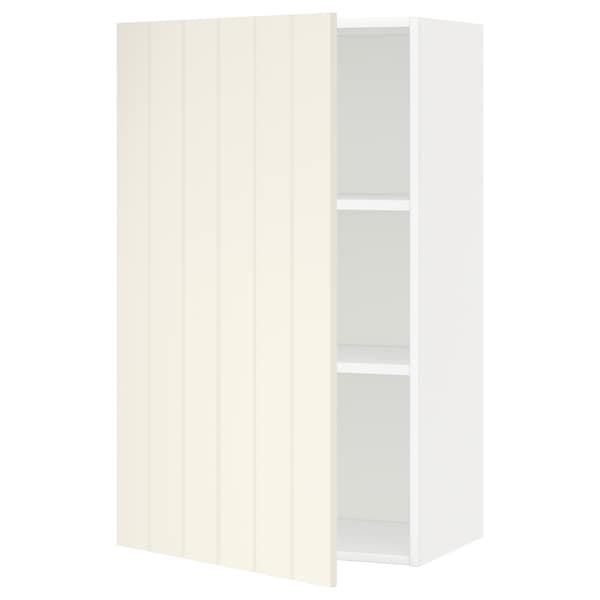 METOD Wall cabinet with shelves, white/Hittarp off-white, 60x100 cm