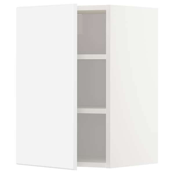 METOD Wall cabinet with shelves, white/Kungsbacka matt white, 40x60 cm