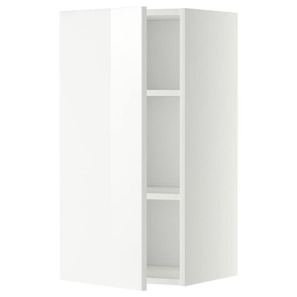 METOD Wall cabinet with shelves, white/Ringhult white, 40x80 cm