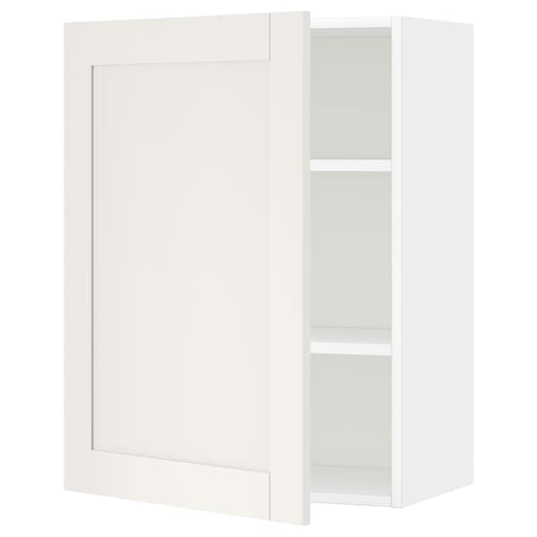 METOD Wall cabinet with shelves, white/Sävedal white, 60x80 cm