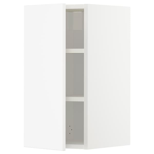 METOD Wall cabinet with shelves, white/Veddinge white, 30x60 cm