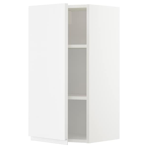 METOD Wall cabinet with shelves, white/Voxtorp high-gloss/white, 40x80 cm