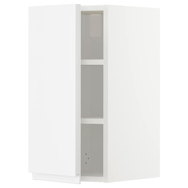METOD Wall cabinet with shelves, white/Voxtorp high-gloss/white, 30x60 cm