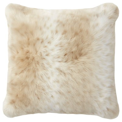 MIKALINA Cushion cover, light brown/spotted, 50x50 cm