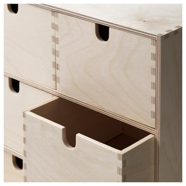 MOPPE Mini chest of drawers, birch plywood, 31x18x32 cm
