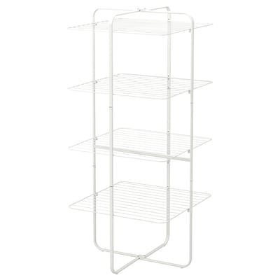 MULIG drying rack 4 levels, in/outdoor white 72 cm 160 cm