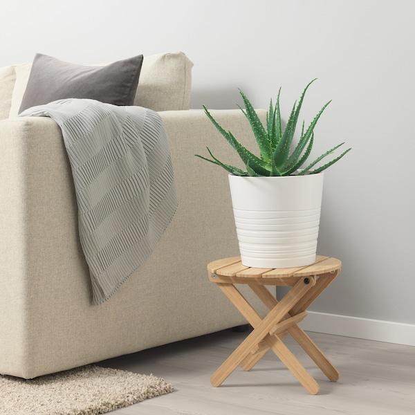 MUSKOT Plant pot, white, 24 cm