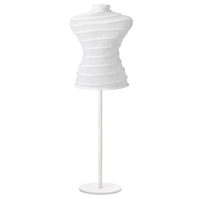NÄPEN clothes stand with cover white 77 cm 127 cm
