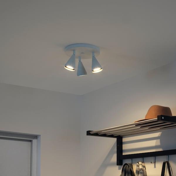 NÄVLINGE Ceiling spotlight with 3 spots, white