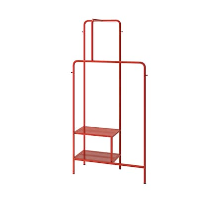 NIKKEBY Clothes rack, red, 80x170 cm