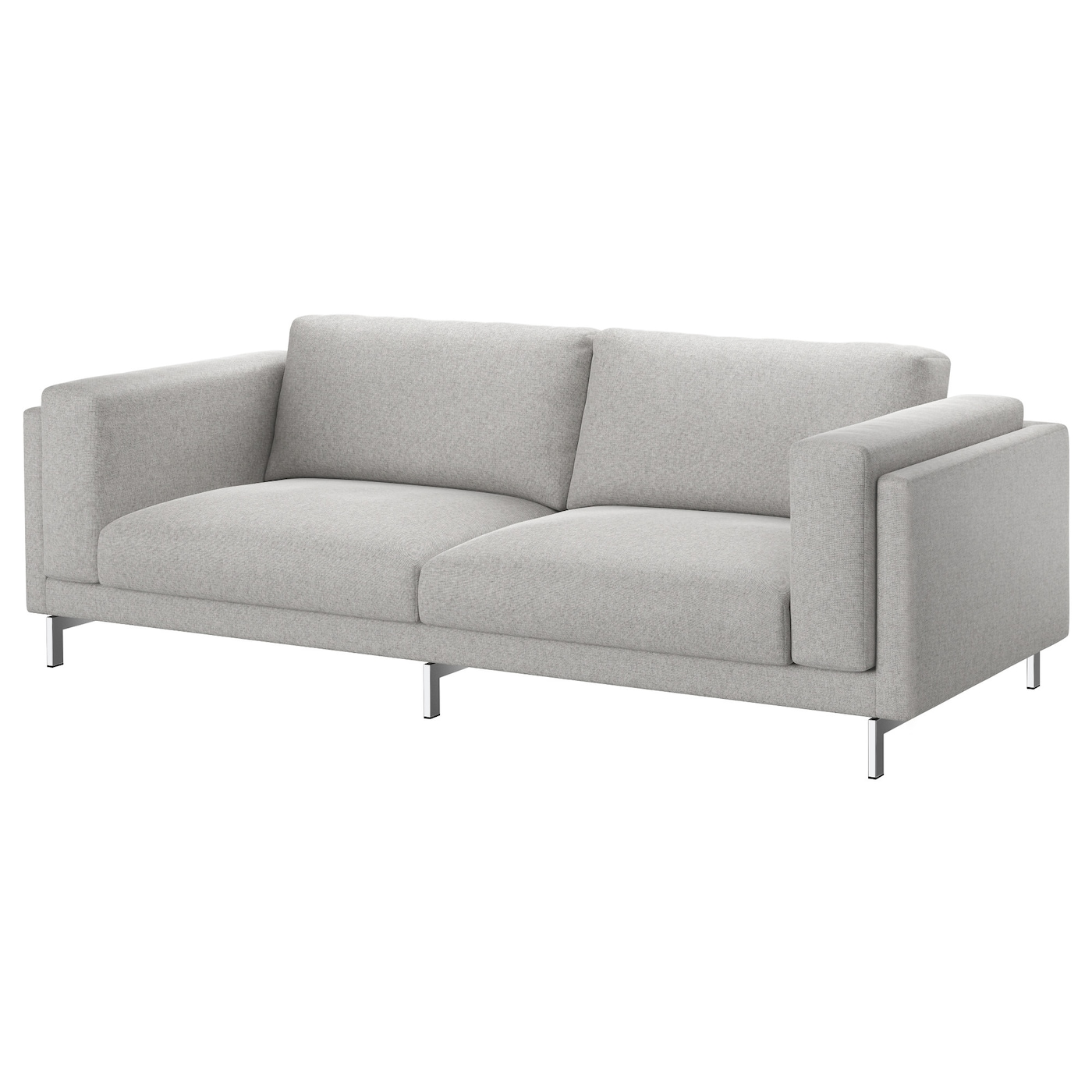 Bankhoes Ikea Bank.Nockeby Cover Three Seat Sofa Tallmyra White Black Ikea