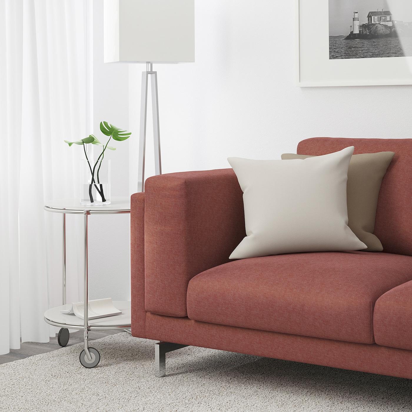 Nockeby Three Seat Sofa Tallmyra Rust Chrome Plated Ikea